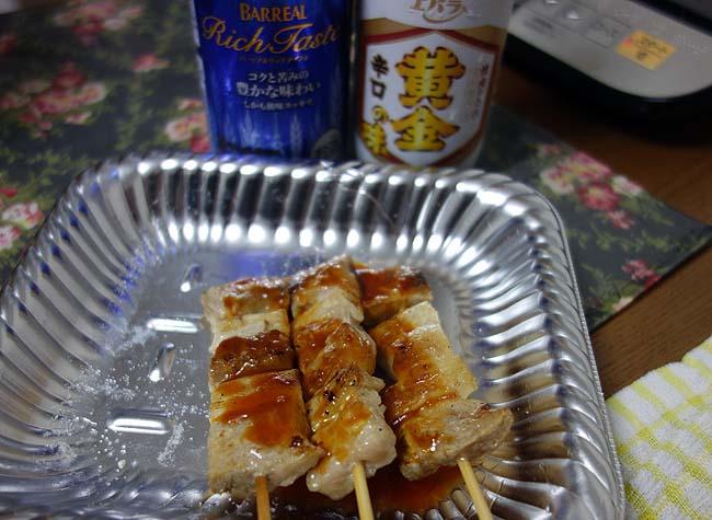 北海道名物「ニシンの切り込み」ってどんなグルメ?豚バラ串焼きとの晩酌です♪