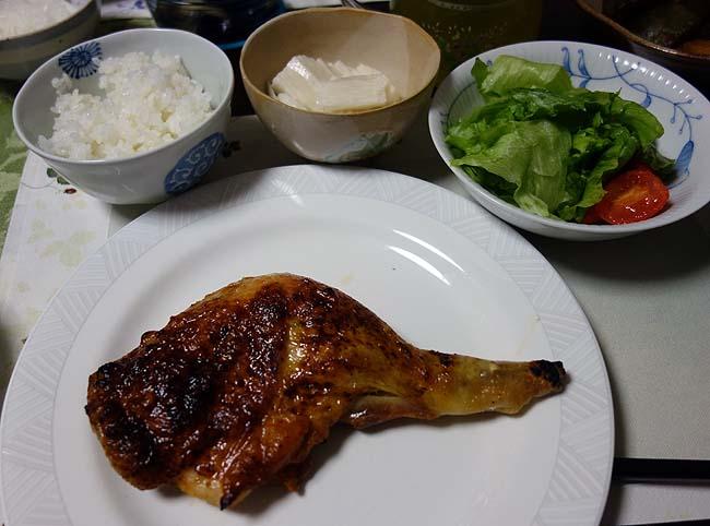 実家でいただく慣れ親しんだ料理シリーズ~芝海老の天ぷら・チキンレッグの照り焼き・カボチャ煮付け(その4)
