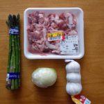 土日休日のお家ランチってパスタ多いよな♪本日は「豚肉とアスパラの焼きパスタ」