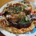 以前作ったピザ・お好み焼きなどの余り物とスーパーの半額惣菜(小ネタ集)