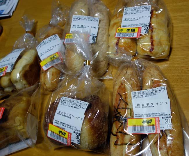 100円パンのヤキタテイが全部すべて半額に!!こりゃ買わなきゃなでしょ