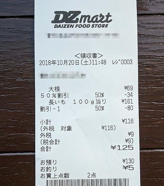 10月の食費レシート公開も今回で最終回!果たして2人生活月3万円の食費は達成できたか?