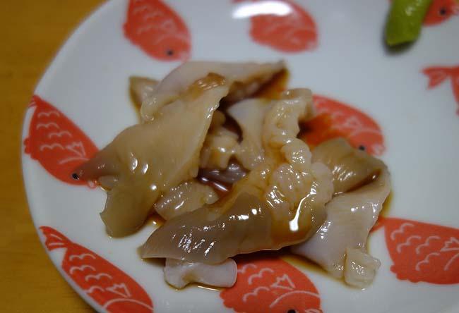 銀鮭・宗八ガレイ焼き、北寄貝刺しバター焼き・ニシン黄金漬けの北海道海鮮小ネタ