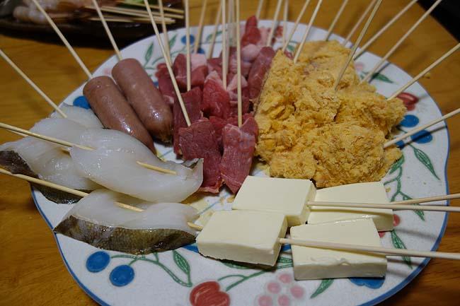 揚げ物を死ぬほどいただきたい時は13種類の卓上串カツ大パーティ♪