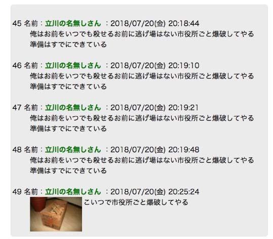 ニコ生主「横山緑」こと立川市議「くぼた学」氏に対して殺害&市役所爆破予告!アンチの嫉妬ってすごいよね