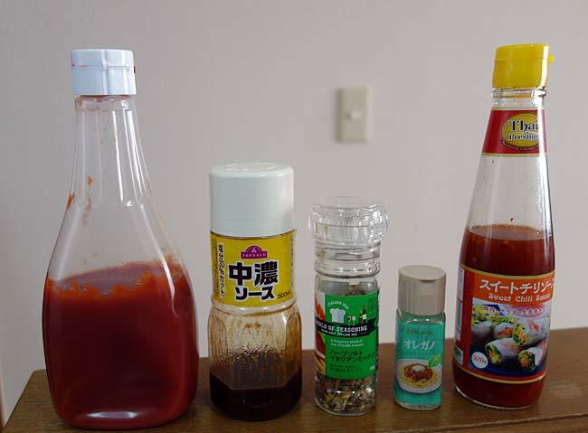 日本の簡単スパゲティと言えばナポリタン♪その応用のオムナポリを作ってみた