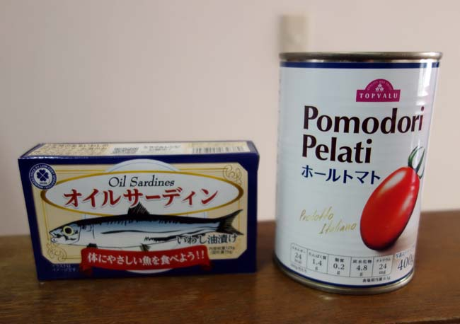 オイルサーディンを使ってアレンジトマトソースパスタを作ってみよう