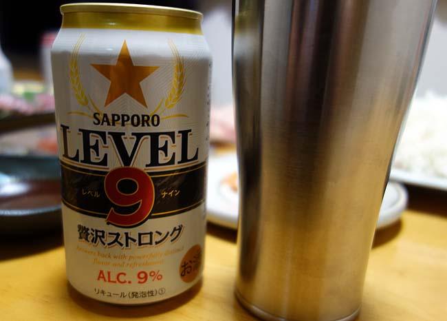 強烈な酔い?!「サッポロ LEVEL9贅沢ストロング」私の定番ビールの座を奪うか?