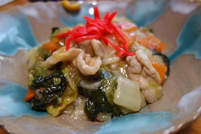 野菜を安く大量に仕入れた翌日は・・・八宝菜ではなく四宝菜とほうれん草の中華スープ