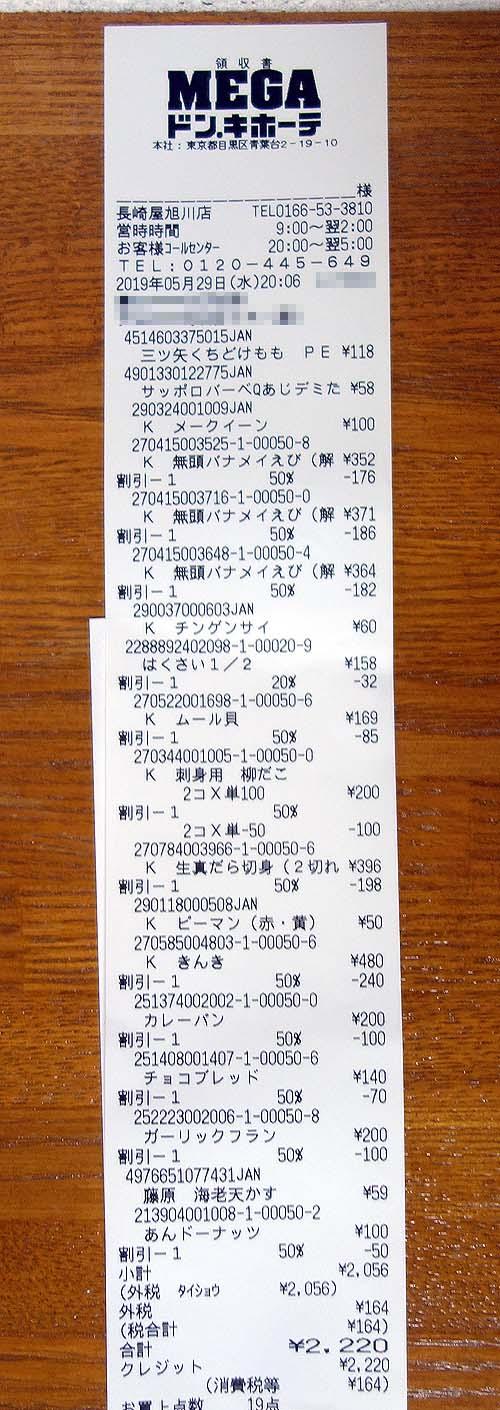 月食費2人3万円生活は実現できているのか?(その2)メガドンキ&ダイゼンで買い物