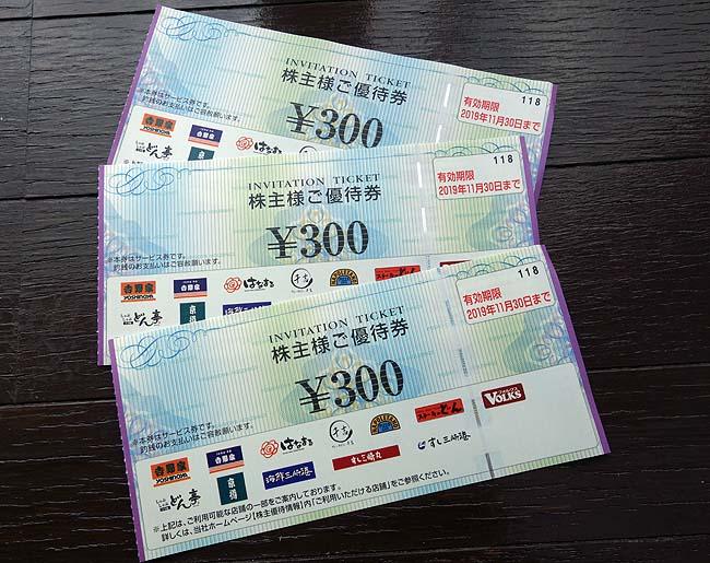 月食費2人3万円生活(その4)第2日曜はビッグデー♪そして株主優待も有効に使うぞい