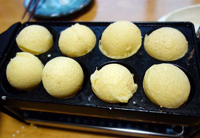 神戸帰郷時に読者さんからいただいた「じん粉」を使っての本格明石焼き作り