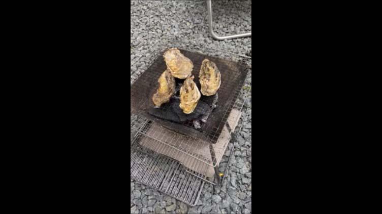 【北海道旭川日帰りバーベキューその2】北海道は夏でも牡蠣は生でいただけます 今回は炭火焼BBQ