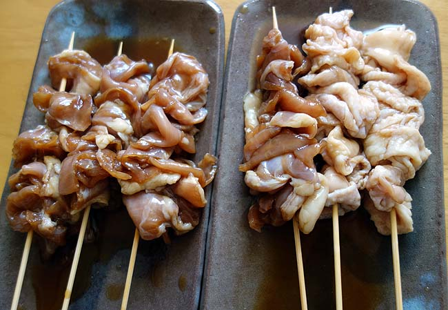 相方休日昼呑み楽しみ♪ミニ焼き屋台を使ったブラックタイガー塩焼き・焼鳥(ぼんじり/鶏皮/ハラミ)